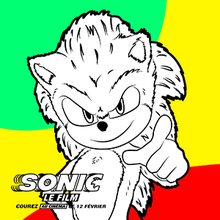 Coloriage Sonic 2