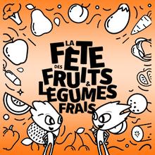 Coloriage : La fête des fruits et légumes frais
