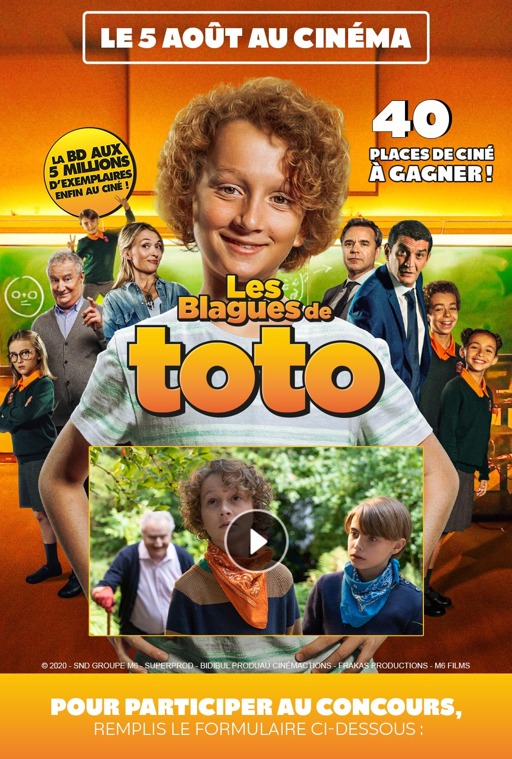 Gagne des places de cinéma pour le film LES BLAGUES DE TOTO !