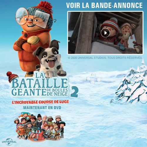 DVD La bataille géanite de boules de neige