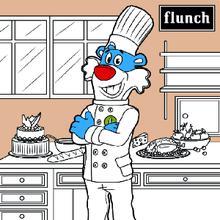 Coloriage : Le repas de Flunchy