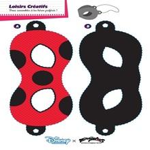 Masque à imprimer : Fabrique ton masque de Ladybug et Chat Noir