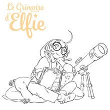 COPIE DE Coloriage Le Grimoire d'Elfie : Elfie sur son balai
