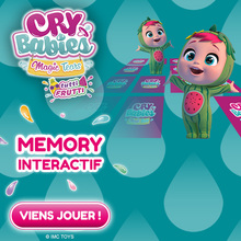 Le jeu de memory des CRY BABIES MAGIC TEARS !
