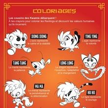 Coloriage Miraculous World Shangai - Les Kwamis