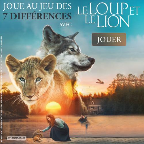 jeu différences le loup et le lion