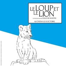 Coloriage : Le lion du film Le Loup et le Lion