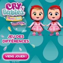 Le jeu des différences des CRY BABIES STORYLAND !