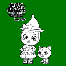 Coloriage : Cry Babies Magic Tears STORYLAND - Agatha et Stormy