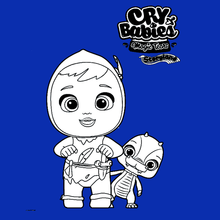 Coloriage : Cry Babies Magic Tears STORYLAND - Peter et Ollie