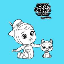 Coloriage : Cry Babies Magic Tears STORYLAND - Piggy et Bowie