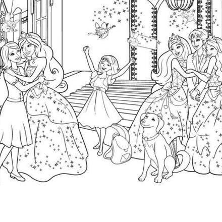 Coloriage barbie princesse - Coloriage barbie apprentie princesse ...