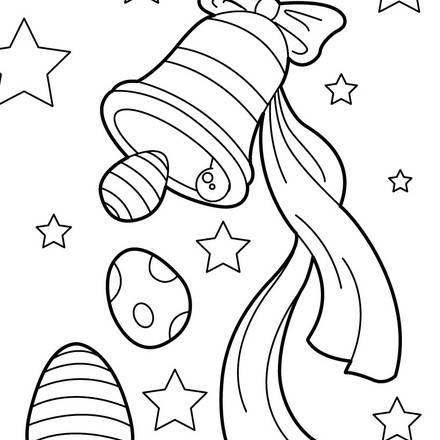 Coloriage cloches de paques - Dessin cloche ...
