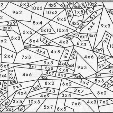 Coloriage Code Table De Multiplication.Coloriage204 Coloriage Magique Table De Multiplication Ce2