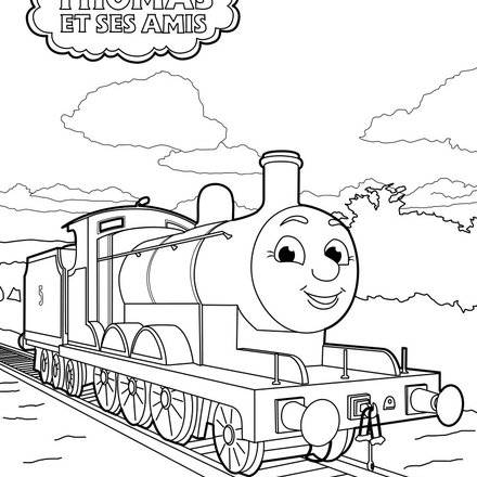 Coloriage204 coloriage thomas le petit train - Thomas le petit train coloriage ...