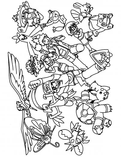 Coloriages pokemon - Coloriage de pokemon a imprimer ...