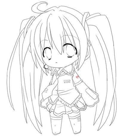 Hatsune miku para colorear imagui for Coloring pages anime chibi