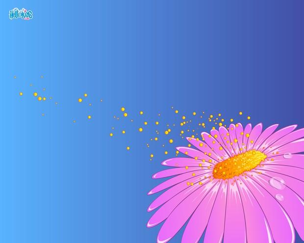 Fleur et pollen