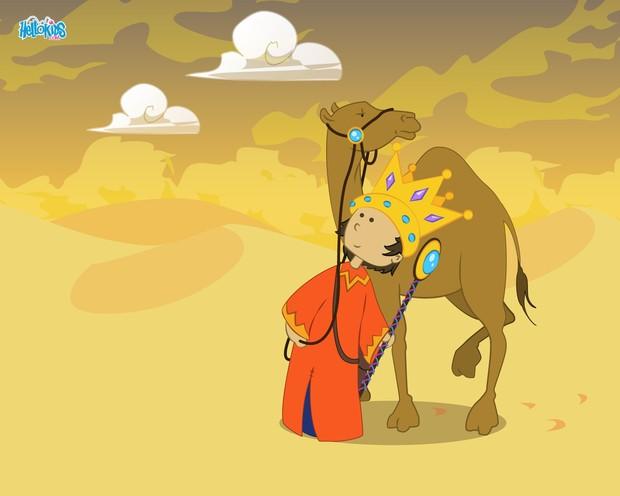 Roi mage dans le désert