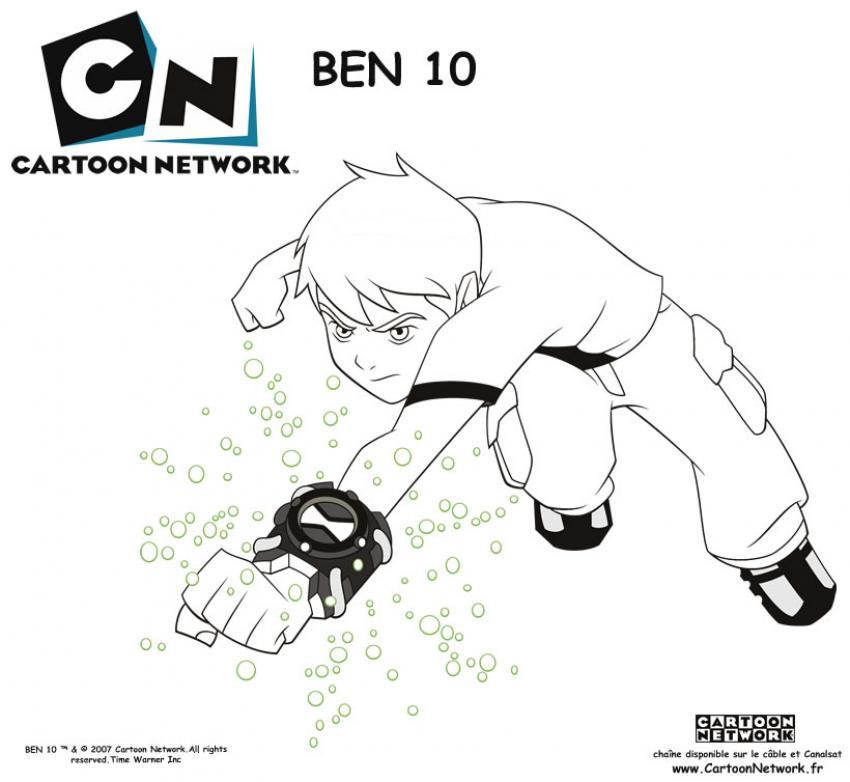 Coloriage : Ben 10 et sa montre