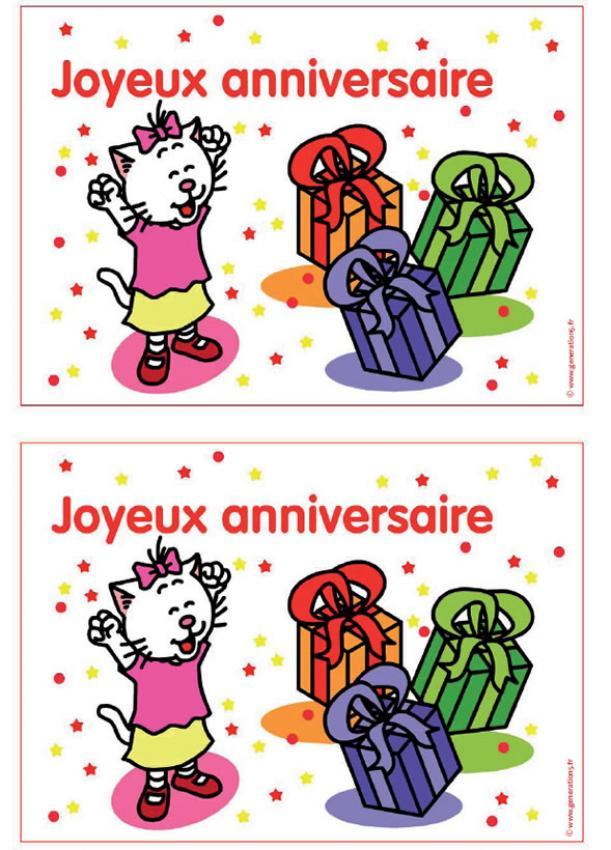 Carte d anniversaire fille