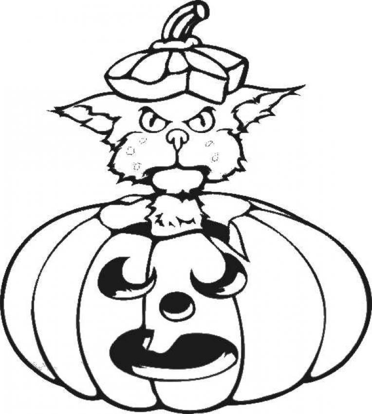 scary black cat coloring pages - photo#28