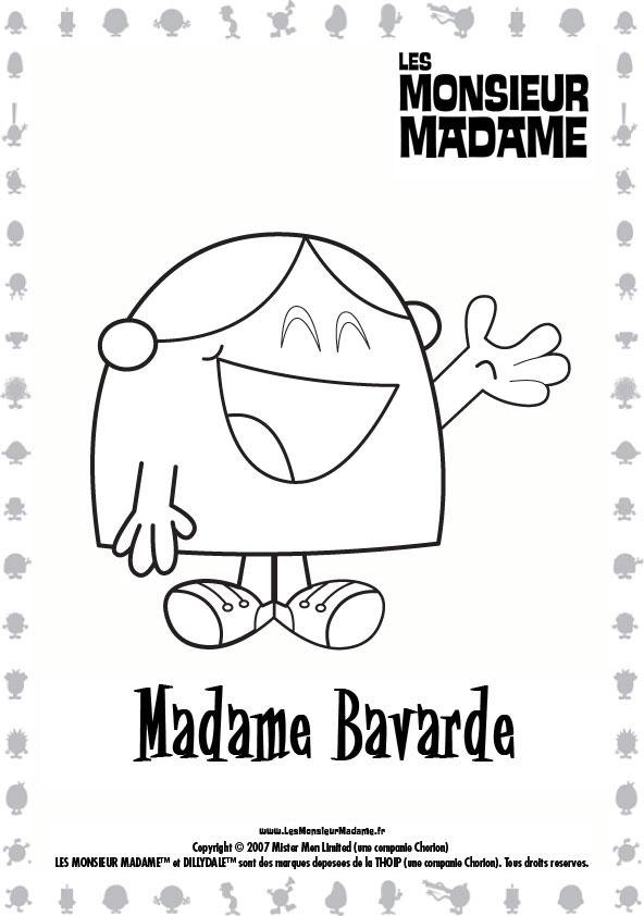 Coloriage A Imprimer Monsieur Madame