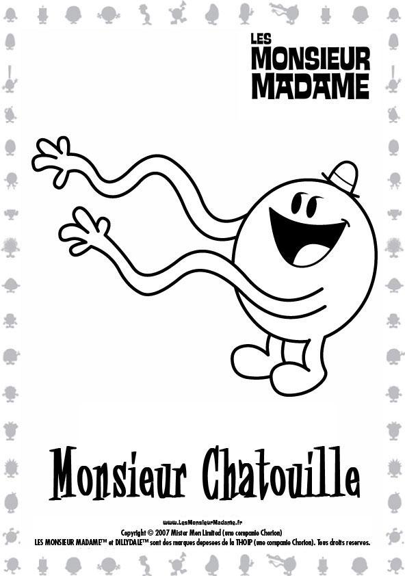 Coloriage de monsieur madame coloriage de monsieur chatouille - Jedessine coloriage ...