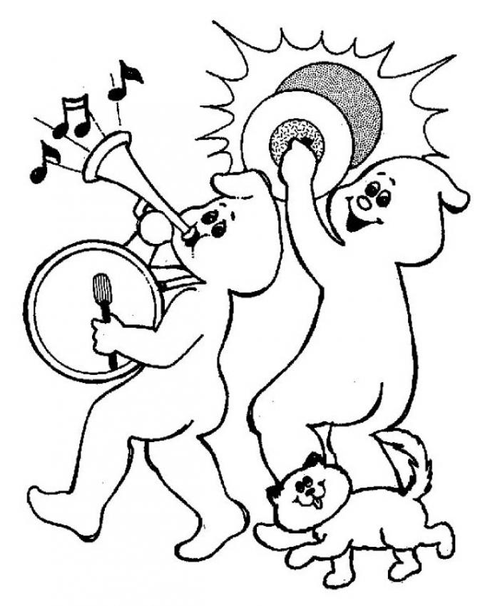 Halloween Coloring Pages Music