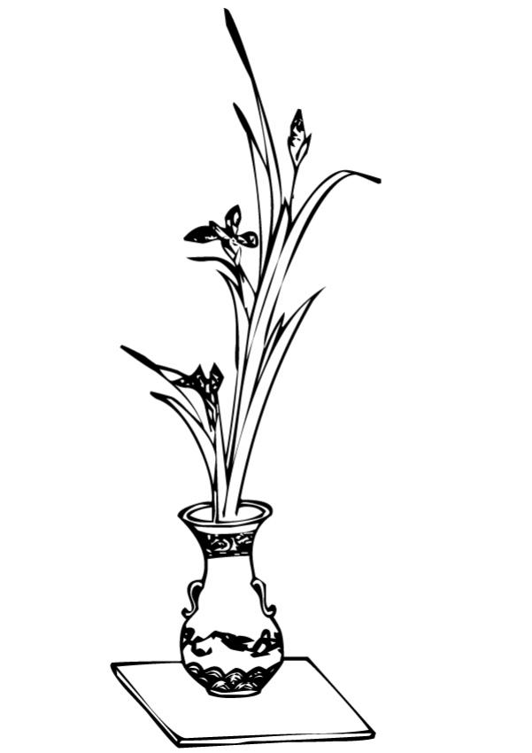 coloriages coloriage de fleurs dans un vase - fr.hellokids