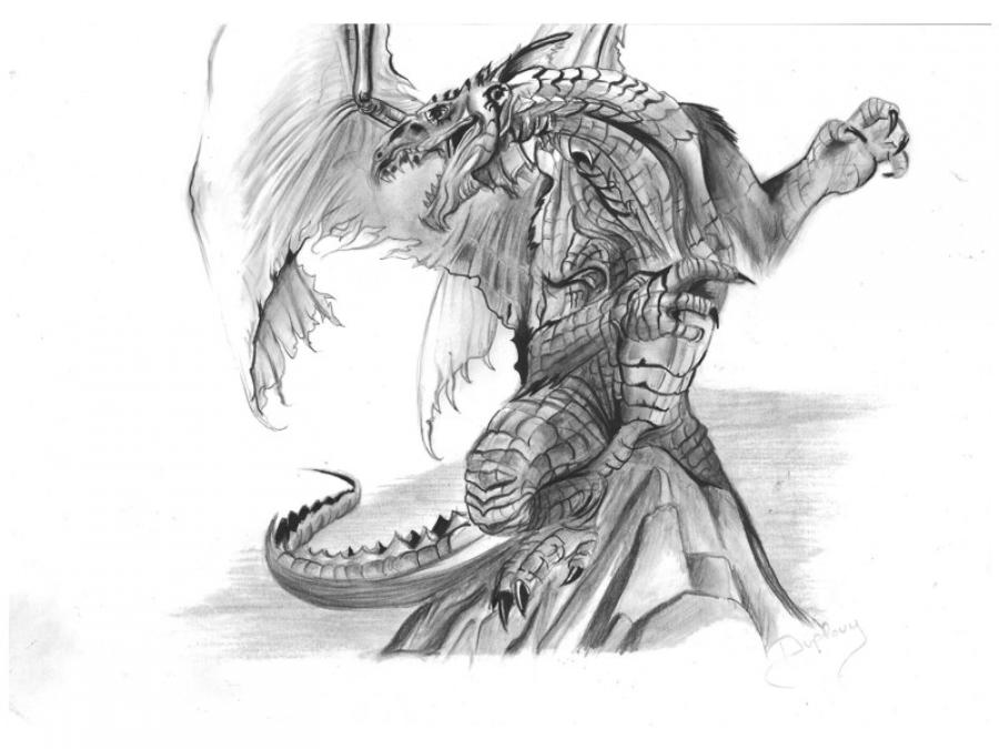 Comment dessiner le dragon de guillaume - Dessin un dragon ...