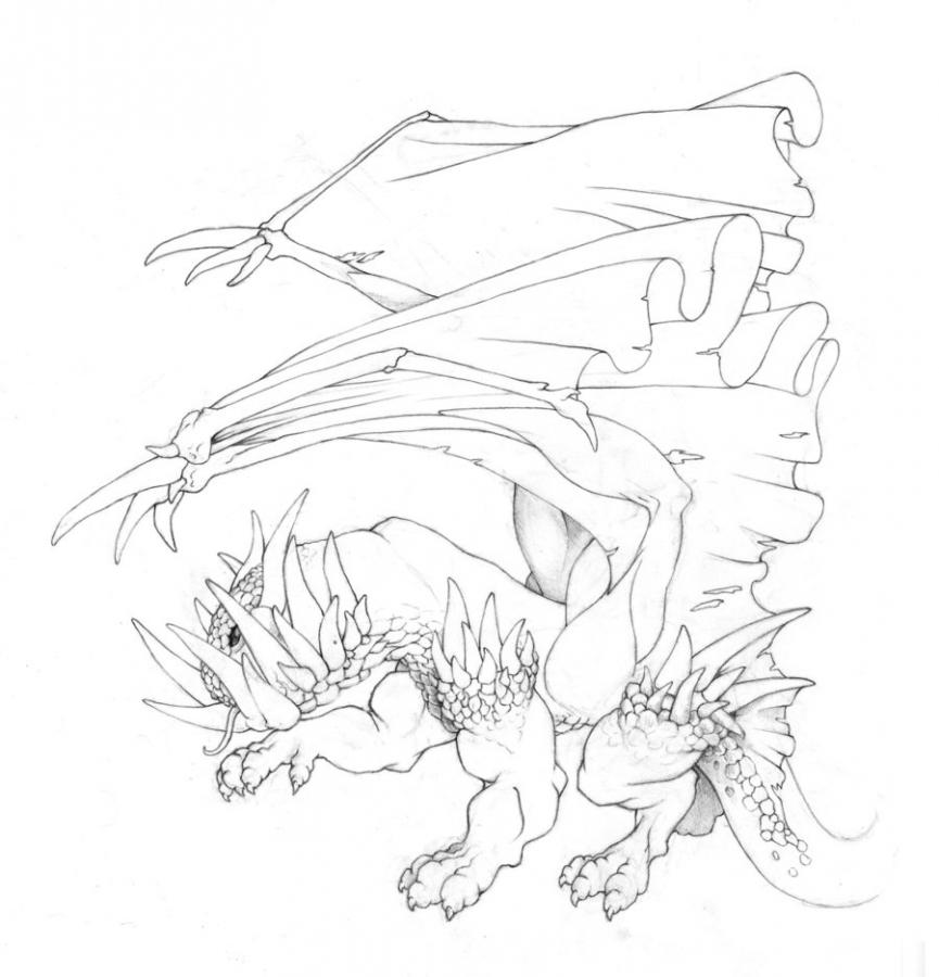 Comment dessiner le dragon de pierre - Dessins dragon ...