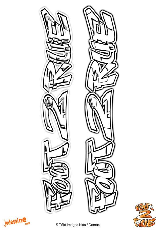 Coloriages coloriage du logo foot2rue - Coloriage foot 2 rue ...