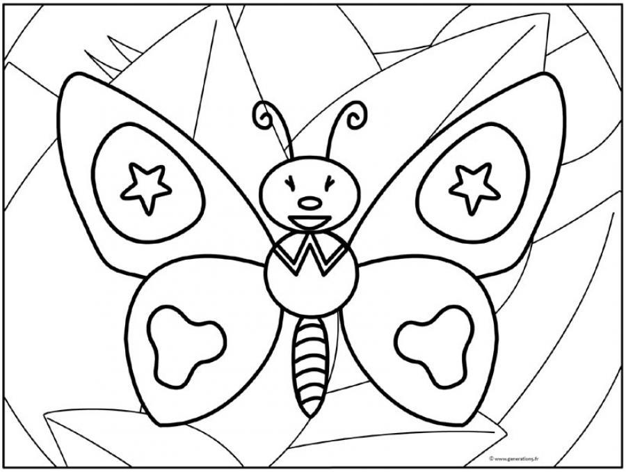 Coloriage GRATUIT CHARIVARI - Coloriage du papillon