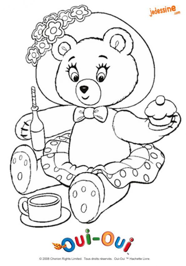 Coloriages coloriage du go ter de mirou - Dessin ours en peluche ...