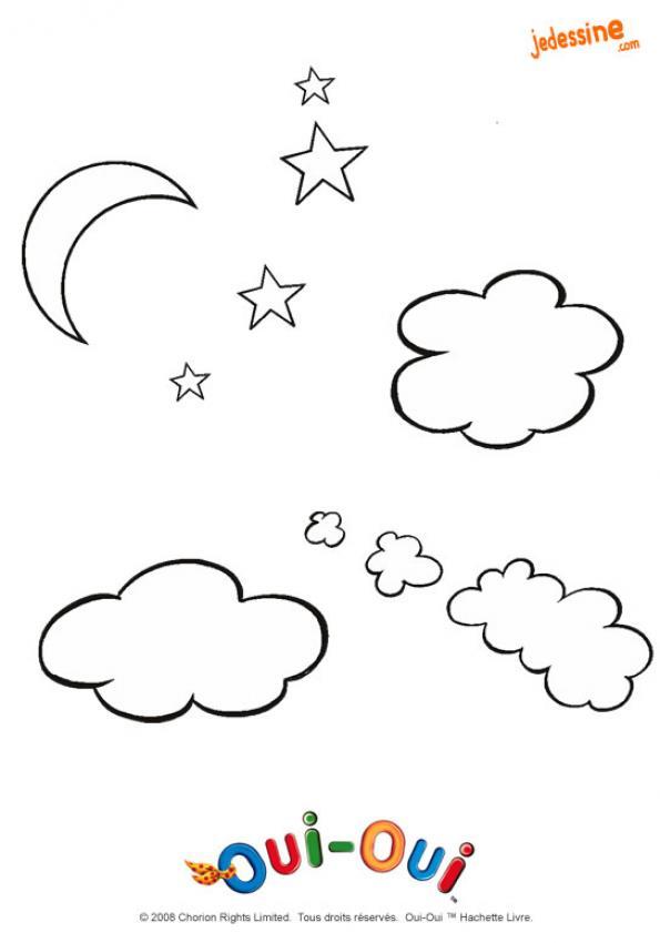 Coloriages coloriage des nuages - Nuages dessin ...