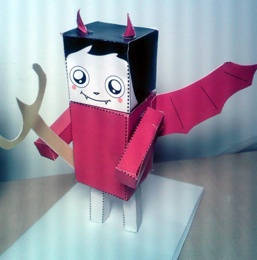 Marvelous Jeux Enfants En Ligne #2: Papertoy-d-un-petit-demon-facile-62866.jpg