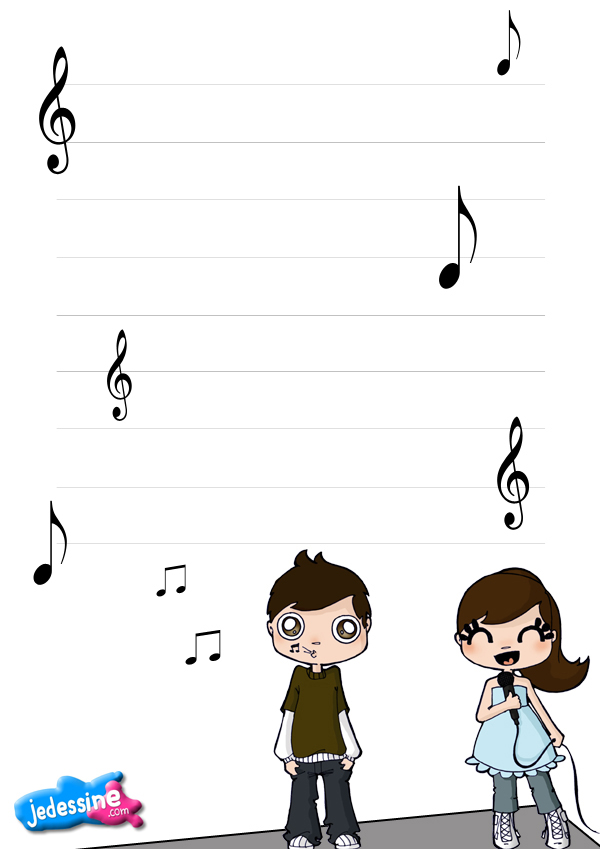 Papier A Lettre Musique on Lecture Note And Worksheet