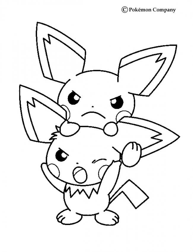 Coloriages pichu - Coloriage pokemon en ligne ...
