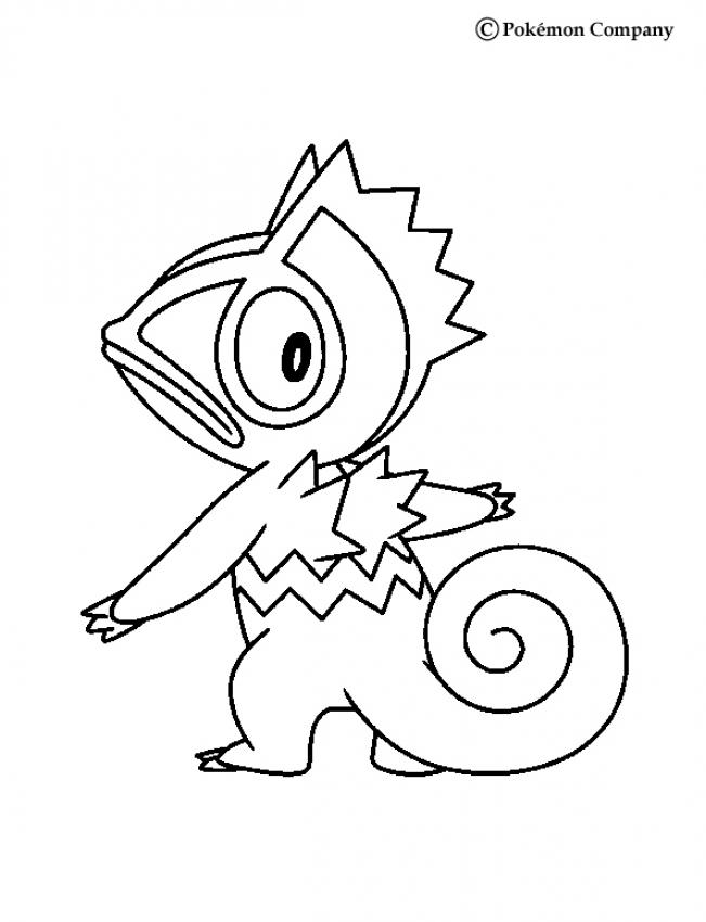 Coloriage : Kecleon de dos