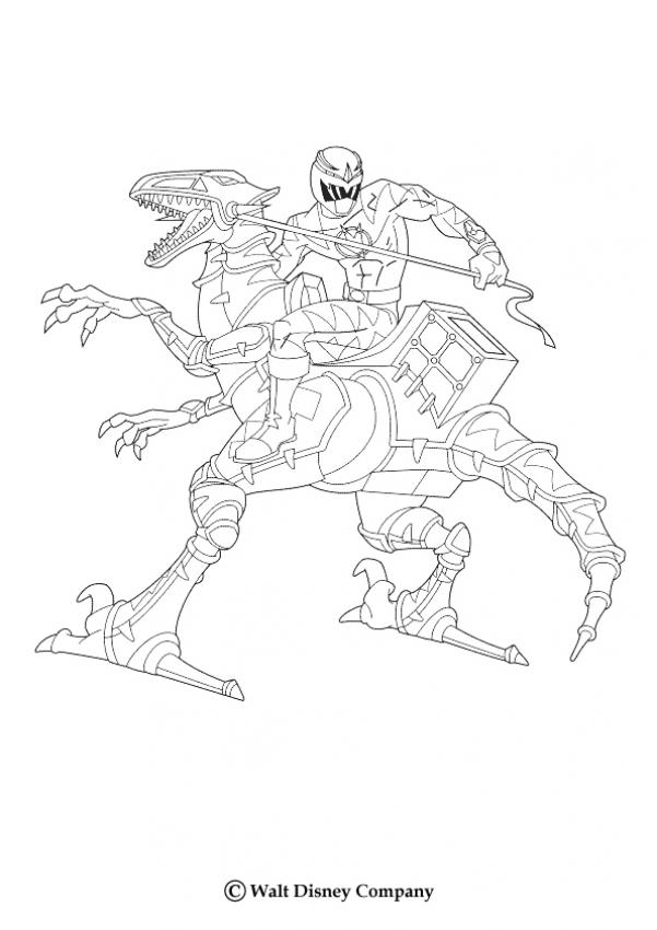 Coloriages dino robot - Power rangers gratuit ...