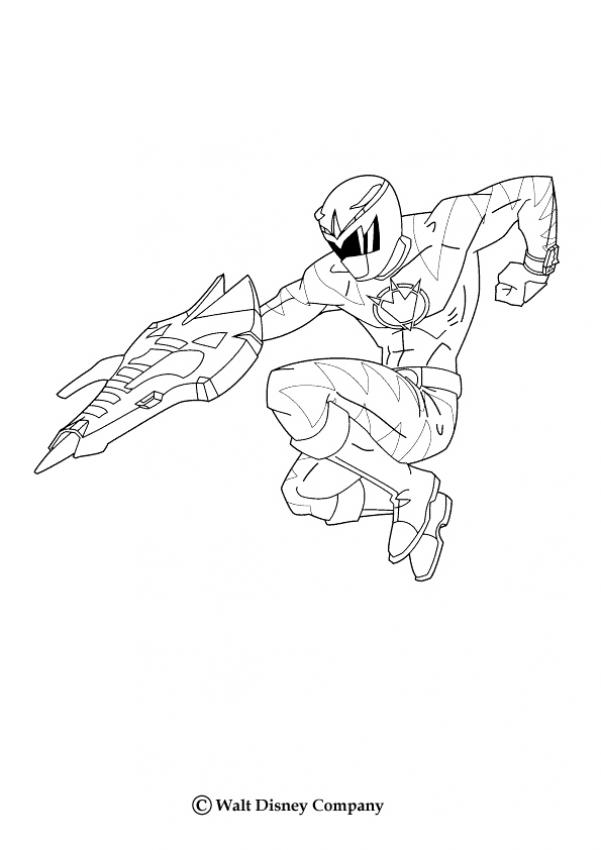 Coloriages ranger bleu - Power rangers gratuit ...