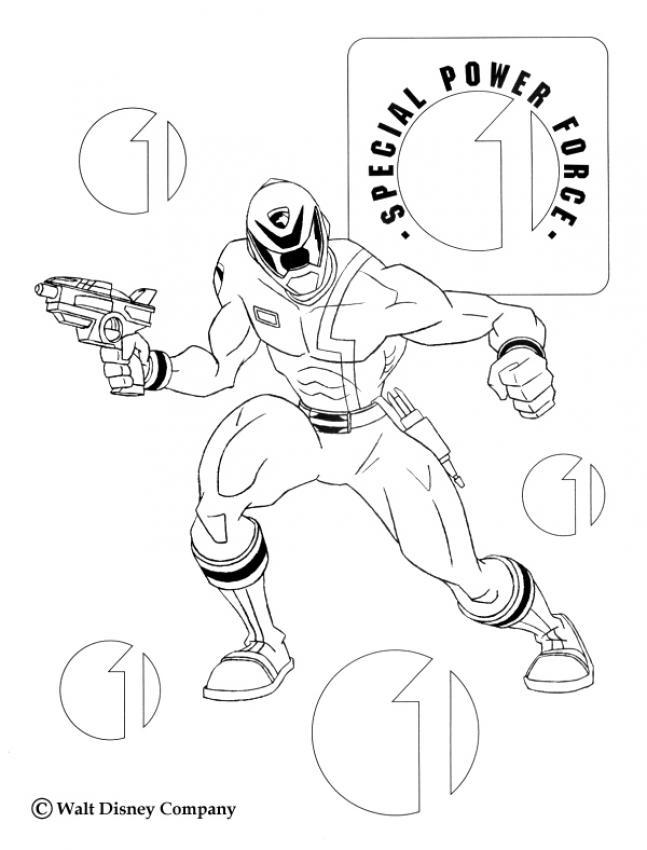 Coloriage de pistolet - Coloriage mini force ...