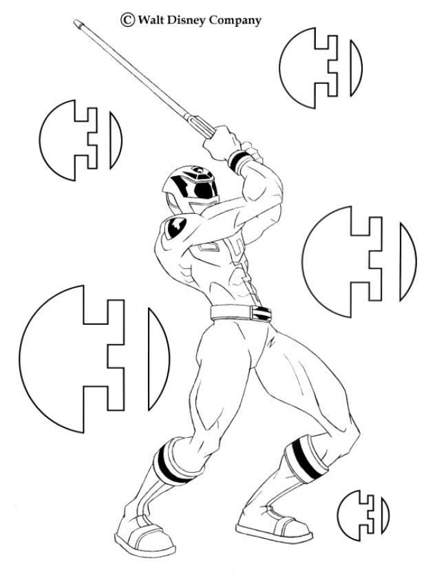 Coloriage Power Rangers : Ranger avec une épée
