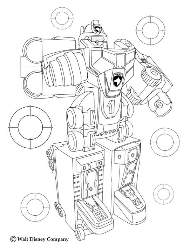 coloriages mega robot megazord fr hellokids com