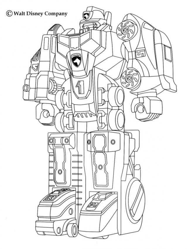 Coloriages le robot megazord - Robot coloriage ...