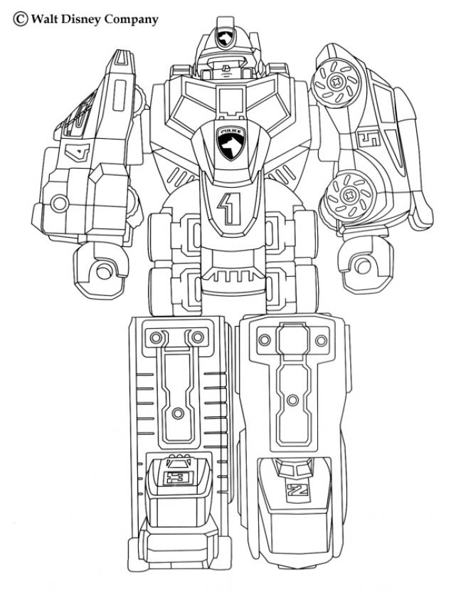 Coloriages megazord for Power rangers samurai megazord coloring pages
