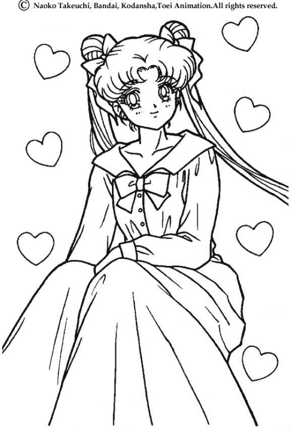 Coloriage sailor moon coloriage de sailor moon en robe longue - Jedessine coloriage ...