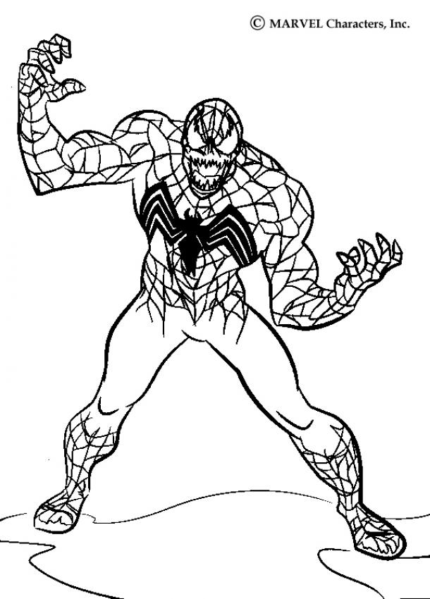 Coloriages venom - Jeux de spiderman coloriage ...