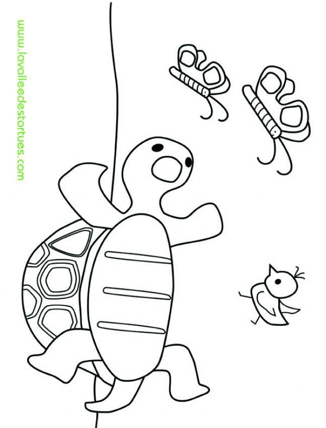 Coloriages coloriage de tortue - Ver de terre dessin ...